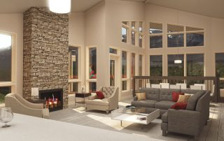Lookout Ridge living room render