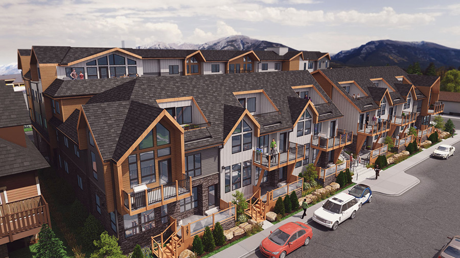 Canmore apartments, Seventh and Seventh home development rendering