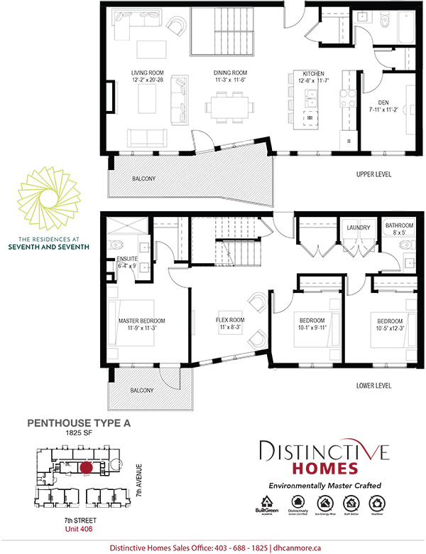 Floor plan of The Residences at Seventh and Seventh Canmore Apartments