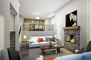Interior rendering of the bow collection duplex
