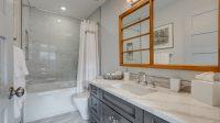 Interior view of the Abruzzi luxury bathroom.