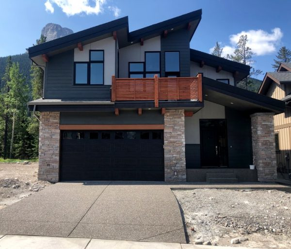 Exterior of our Custom Home the Carrington Unit in Canmore.