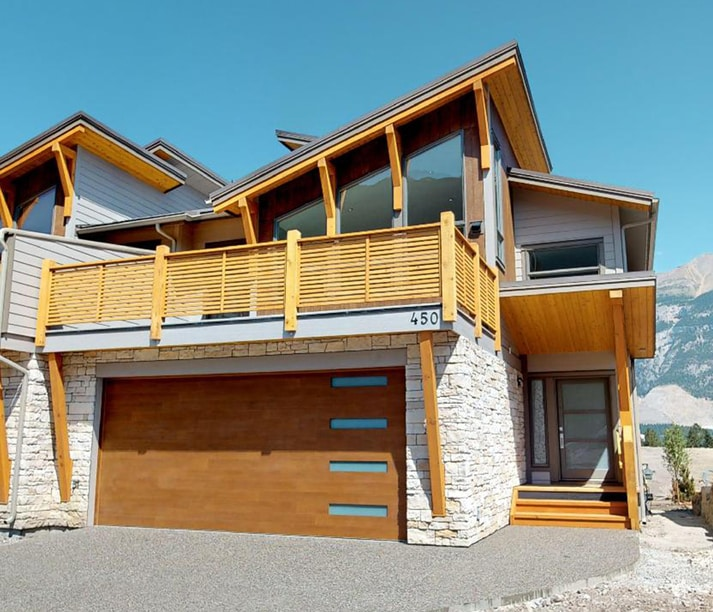 Exterior view of our Oxford Canmore mountain home.