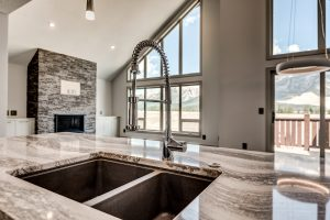 Kitchen shot of a mountain home