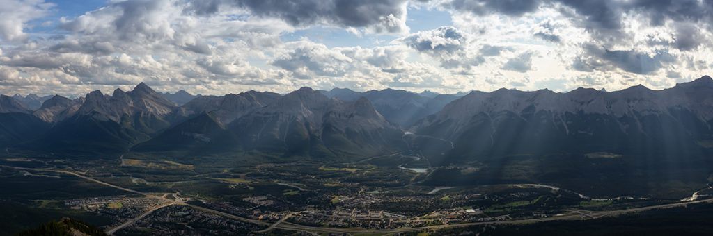 Canmore mountain range