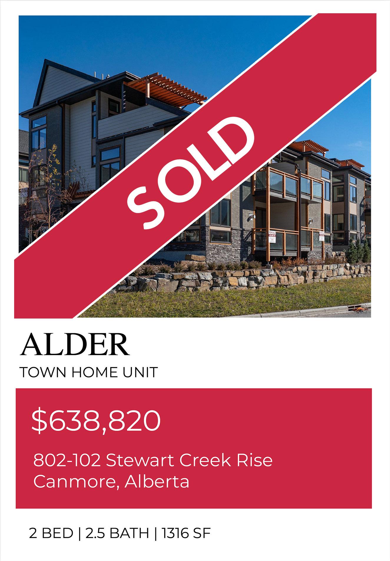 Alder unit, Sold Out