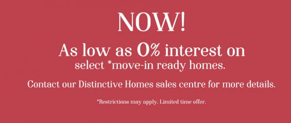 move in ready offer at distinctive homes