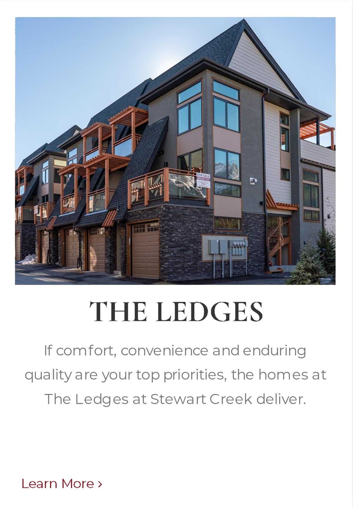 The Ledges, mountain homes built by Distinctive Homes