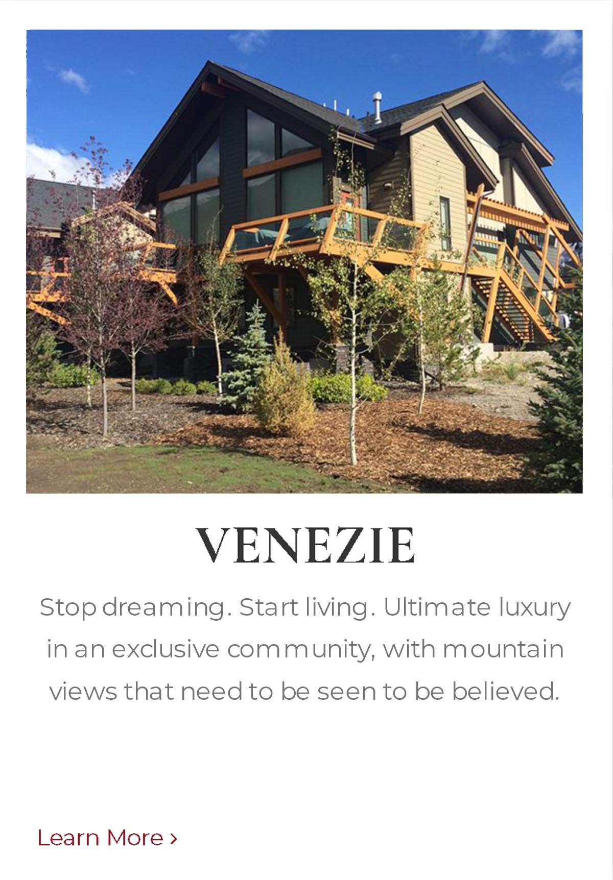 Venezie private community mountain home built by Distinctive Homes