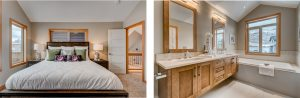 Lavish bedroom and bathroom designs offering the best in Mountain Living