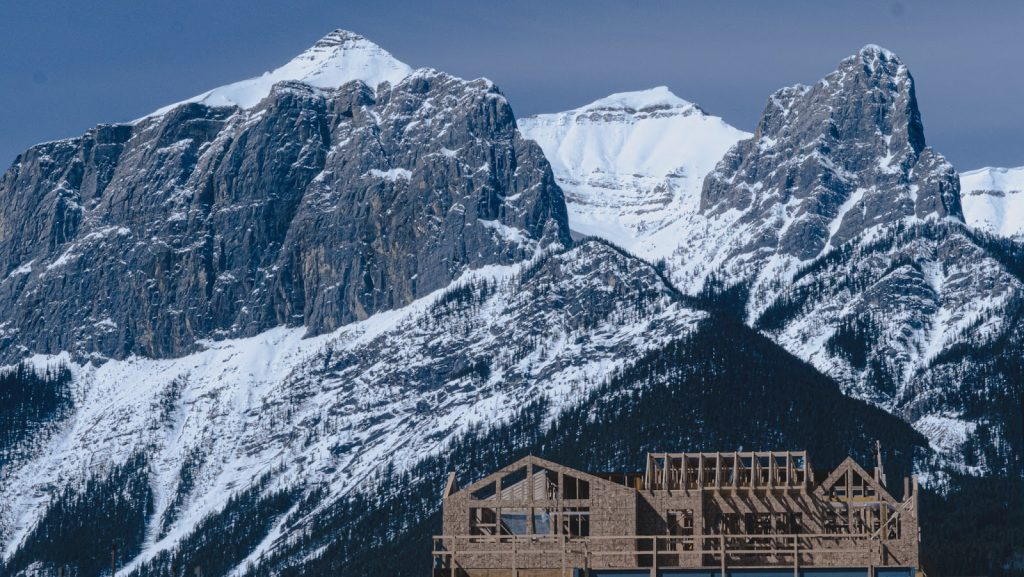 Custom homes built below the beautiful Three Sisters Mountain Village