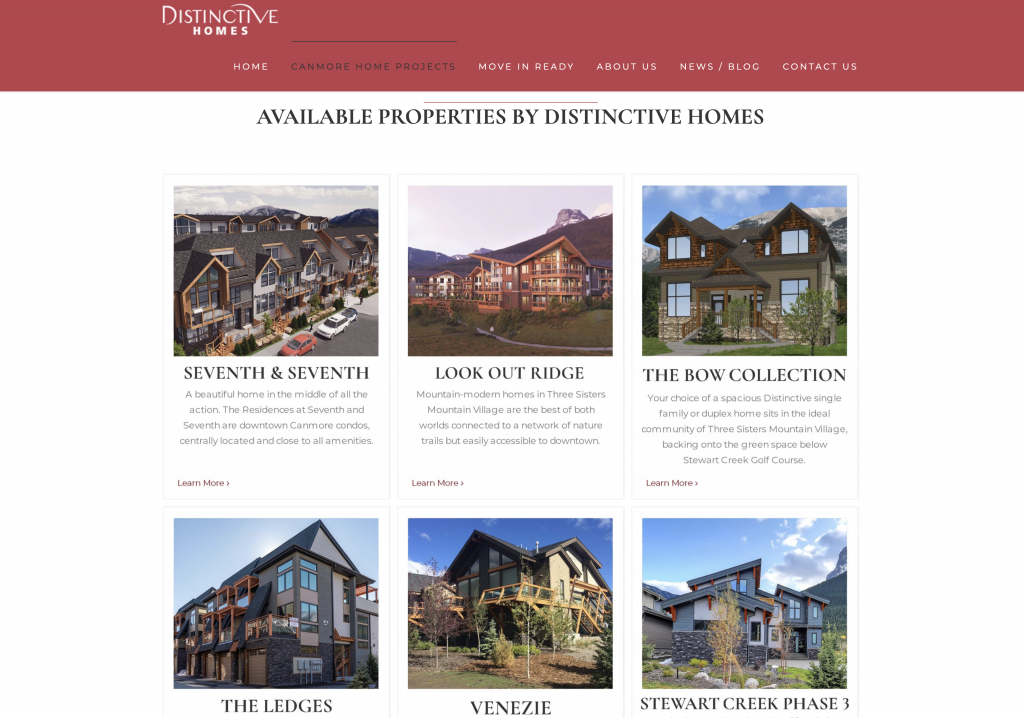 Houses for sale in Canmore by Distinctive Homes