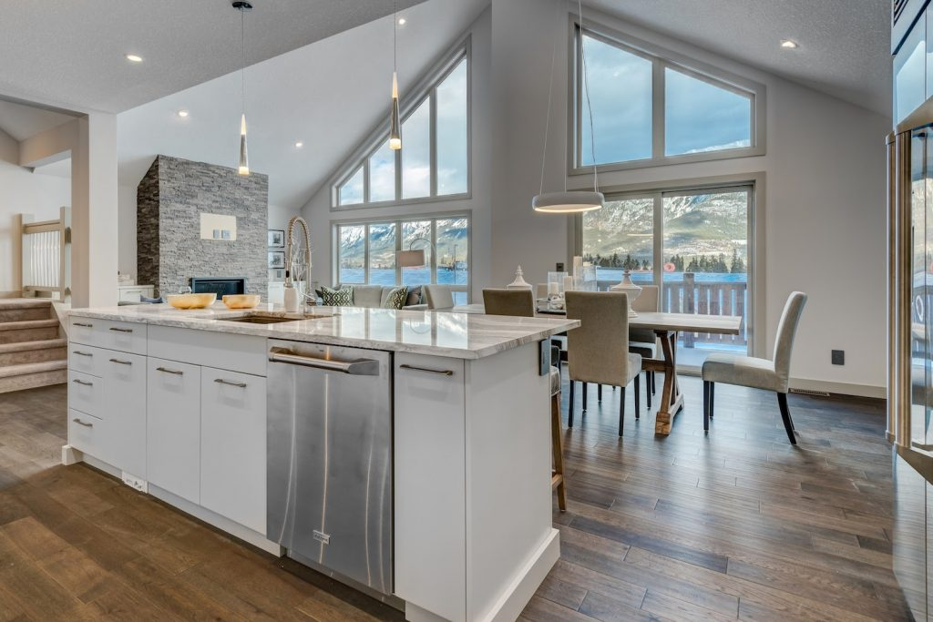 New Build Canmore duplex family homes