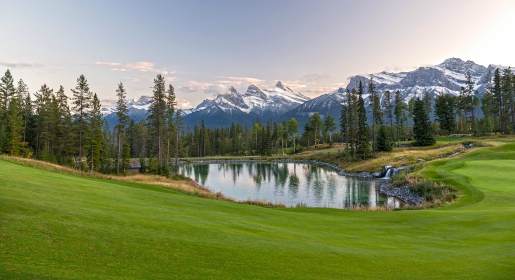 Summer activities Canmore Three Sisters Mountain Village Stewart Creek Golf Course